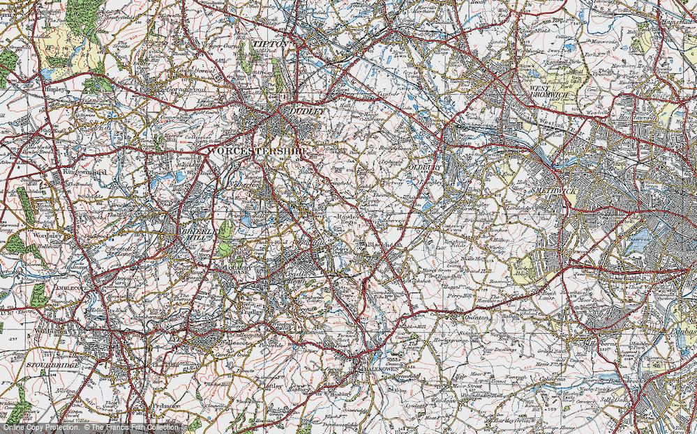 Old Map of Rowley Regis, 1921 in 1921