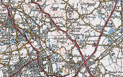 Old map of Rowley Regis in 1921
