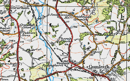 Old map of Rowly in 1920
