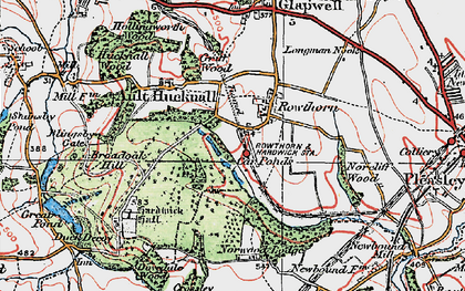 Old map of Hardwick Hall in 1923