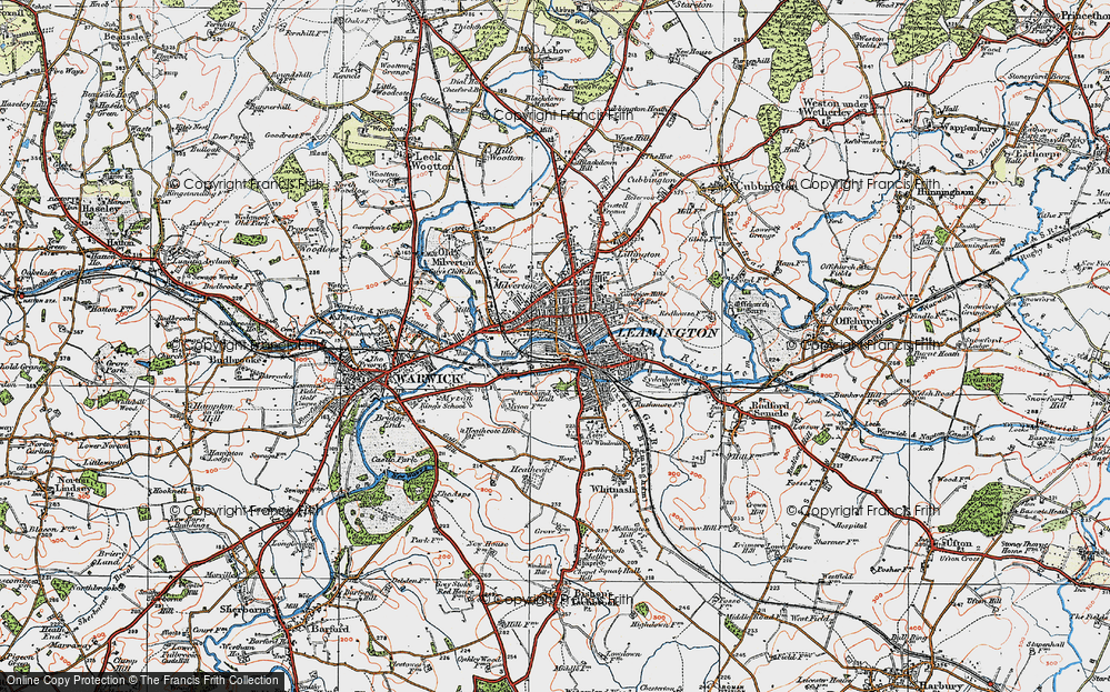 Old Map of Royal Leamington Spa, 1919 in 1919