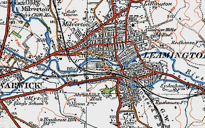 Old map of Leamington Spa in 1919