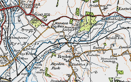 Old map of Lightfoots in 1919