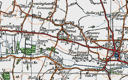 Old map of Wortham Ling in 1920