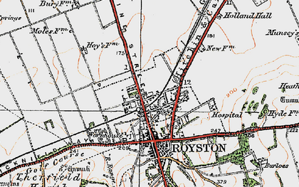 Old map of Royston in 1920
