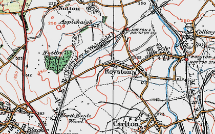 Old map of Royston in 1924