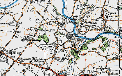 Old map of Wormhill in 1920