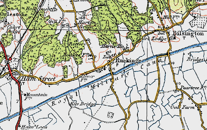 Old map of Ruckinge in 1921