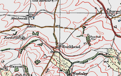 Old map of Woody's Top in 1923