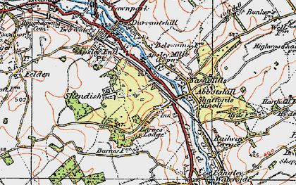 Old map of Rucklers Lane in 1920