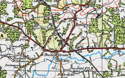 Old map of Rudgwick in 1920