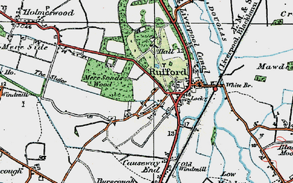 Old map of White Br in 1924