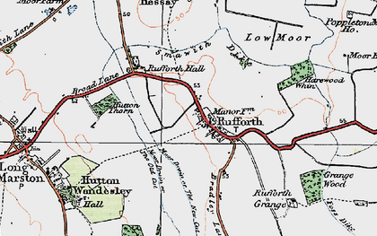 Old map of Rufforth in 1924