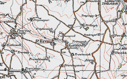 Old map of Rumford in 1919