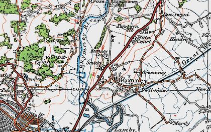 Old map of Rumney in 1919