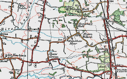 Old map of Worden Park in 1924