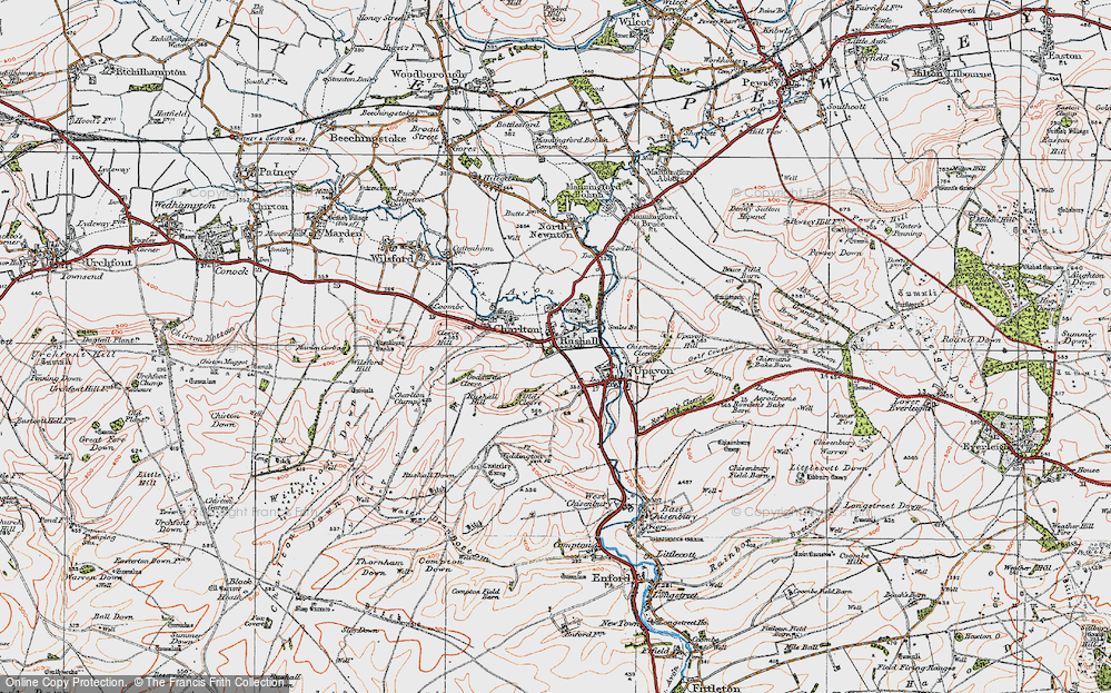 Old Map of Rushall, 1919 in 1919