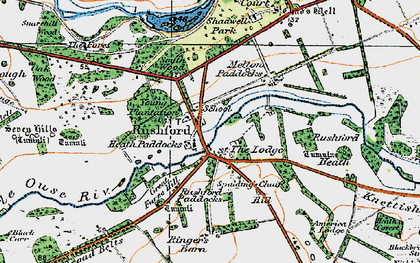 Old map of Young Plantn in 1920