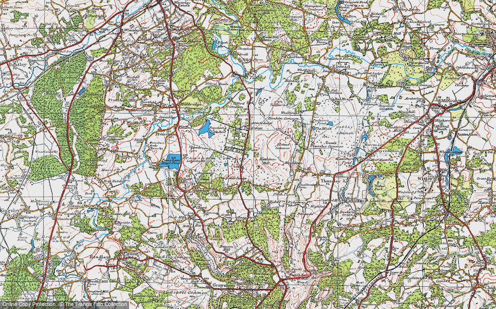 Old Map of Rushmoor, 1919 in 1919
