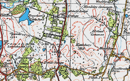Old map of Rushmoor in 1919