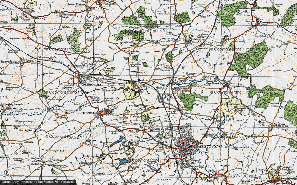 Old Map of Historic Map covering Barford Br in 1920