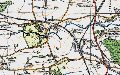 Old map of Barford Br in 1920