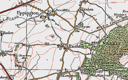 Old map of Woodgreen in 1921