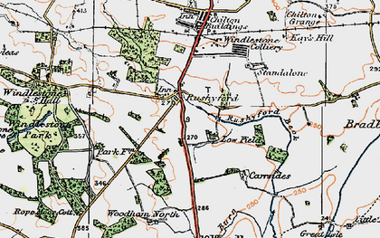 Old map of Rushyford in 1925