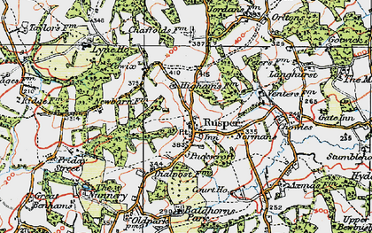 Old map of Baldhorns Park in 1920