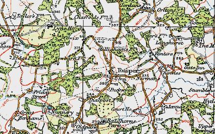 Old map of Rusper in 1920