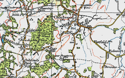 Old map of Russ Hill in 1920