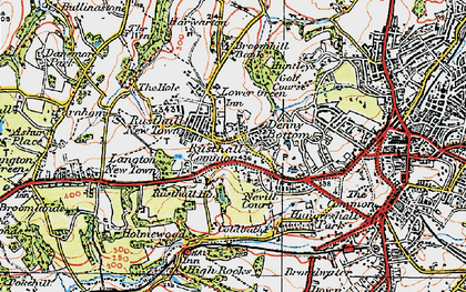 Old map of Rusthall in 1920