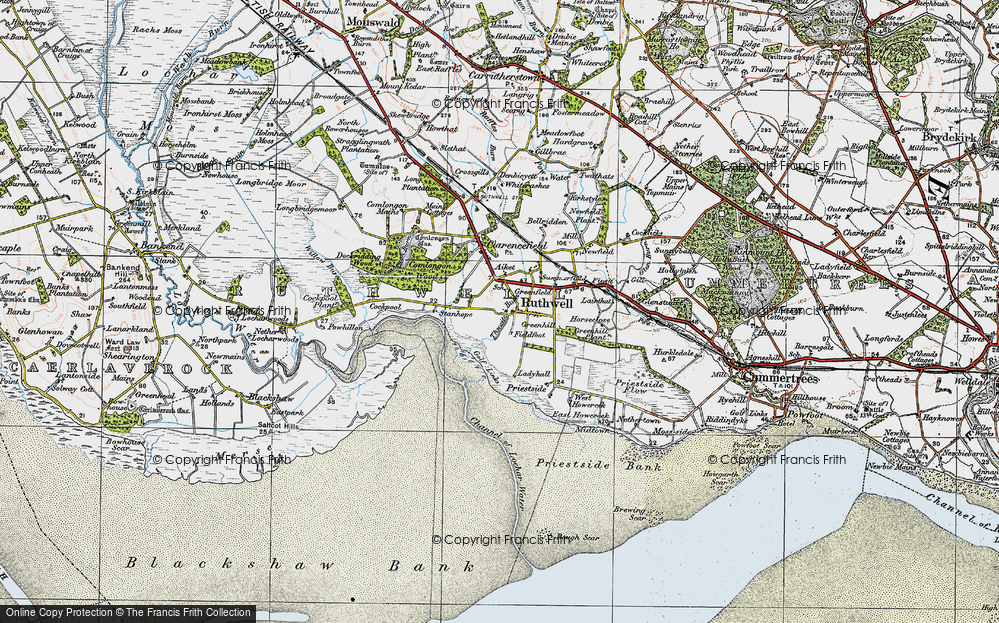 Old Map of Historic Map covering Thwaite in 1925