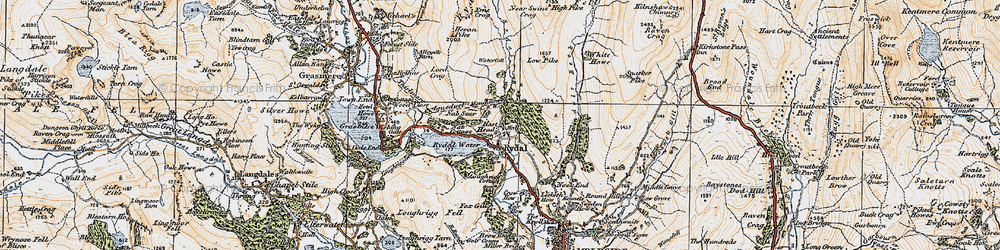 Old map of White Howe in 1925