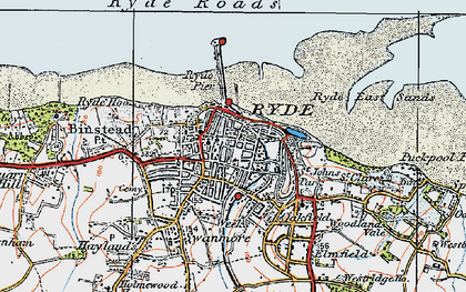 Old map of Ryde in 1919