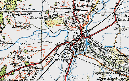 Old map of Ypres Tower in 1921