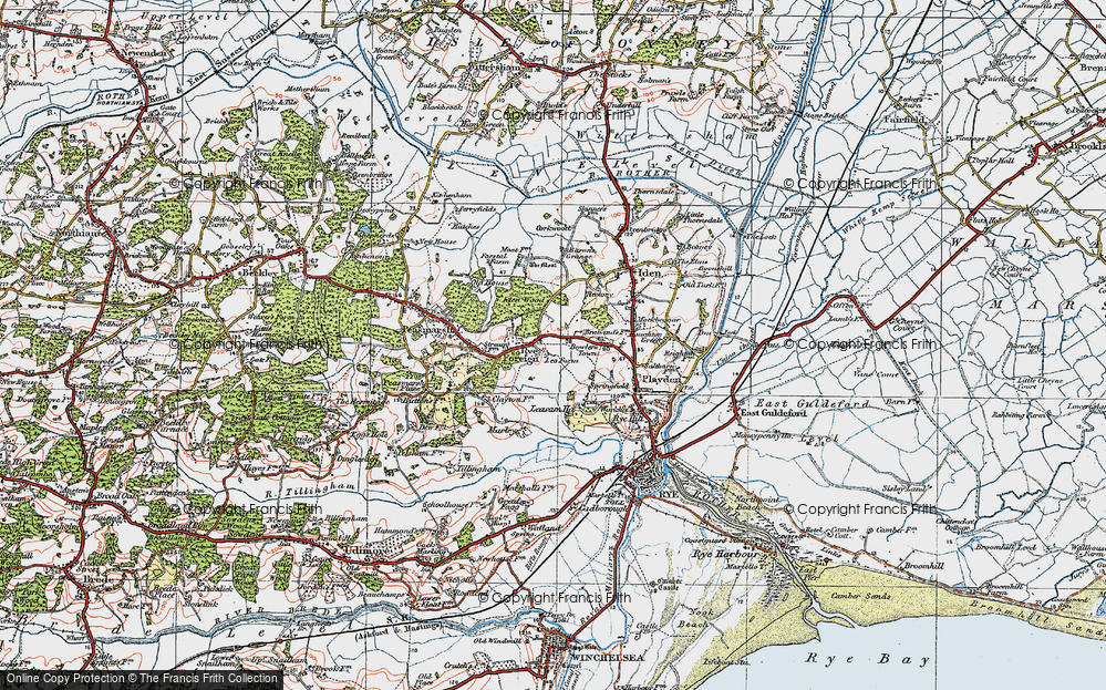 Old Map of Historic Map covering Leasam Ho in 1921