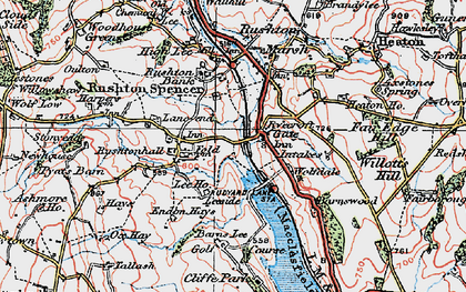 Old map of Leeside in 1923
