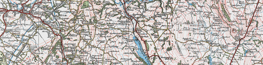 Old map of Wolf-Dale in 1923