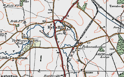 Old map of Tolethorpe Hall in 1922