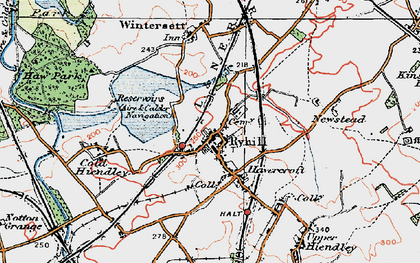 Old map of Ryhill in 1925