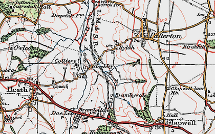 Old map of Rylah in 1923
