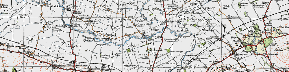 Old map of Acomb Ho in 1925