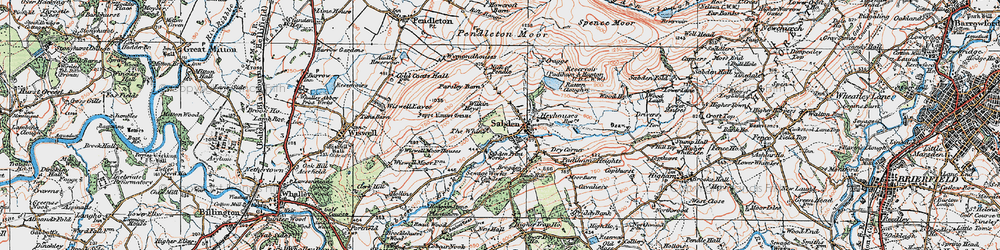 Old map of White Hill in 1924