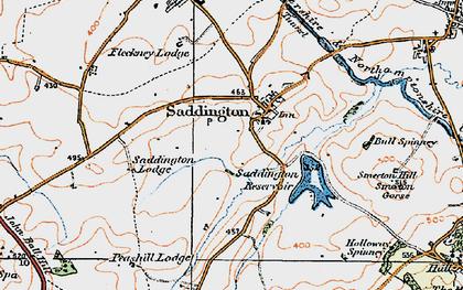 Old map of Saddington in 1920