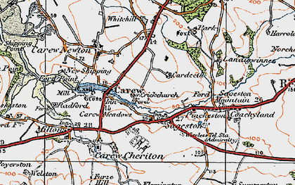 Old map of Whitehill in 1922