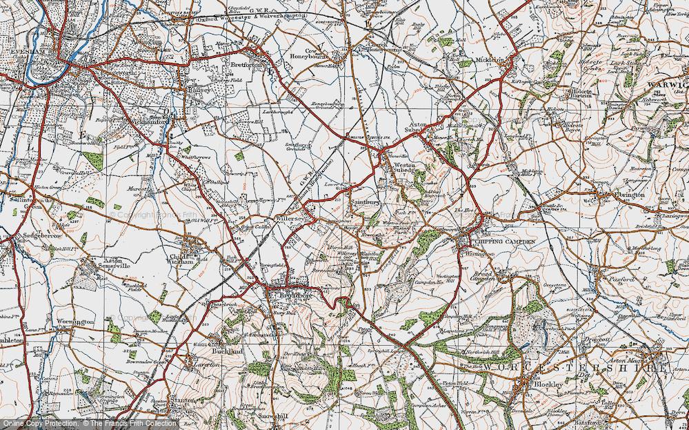 Old Map of Saintbury, 1919 in 1919