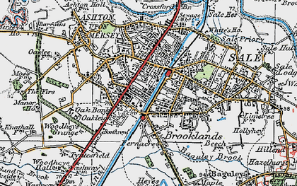 Old map of Sale in 1923