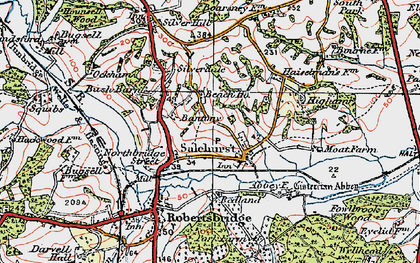 Old map of Bantony in 1921