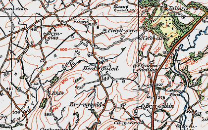 Old map of Afon Myddyfi in 1923